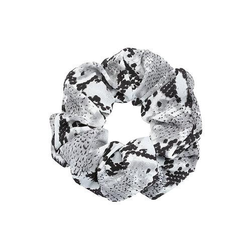 Satin snake scrunchie (grijs)