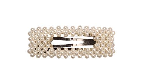 Lady - haarclip met parels (zilver)
