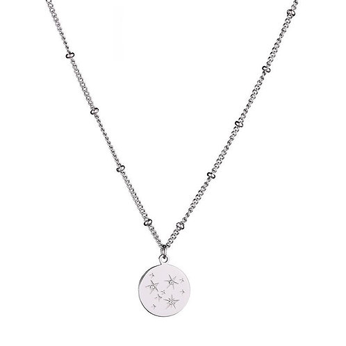 Sparkle & shine - necklace in RVS silver/gold