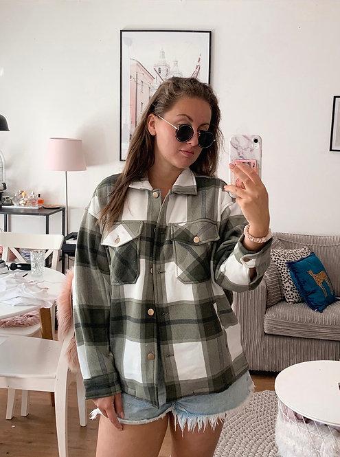 MOMMA 2.0 - zachte blouse/jack in groen