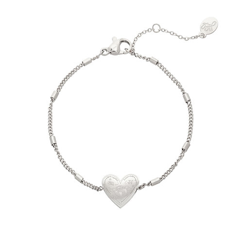 Love to travel - armband in RVS zilver/goud