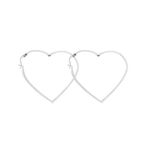 Big lover - oorbellen in RVS zilver/goud