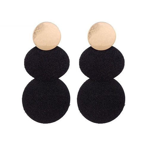 Glitters & champagne - earrings in gold-black