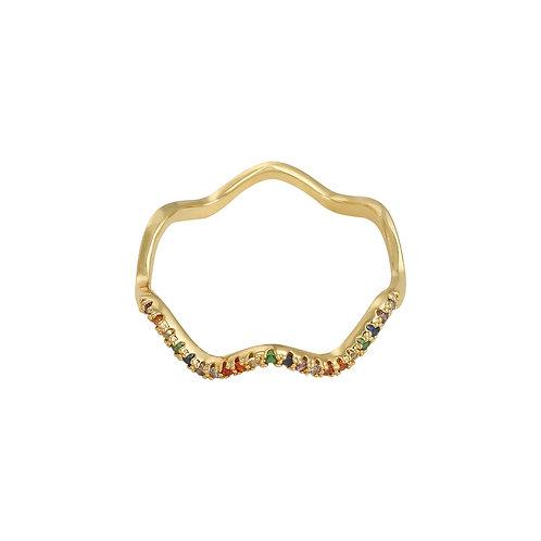 Flow - ring in zilver/goud