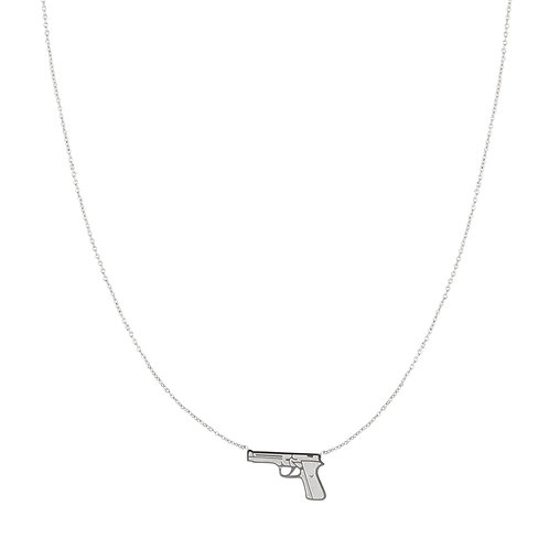 BANG BANG - necklace in RVS zilver/goud
