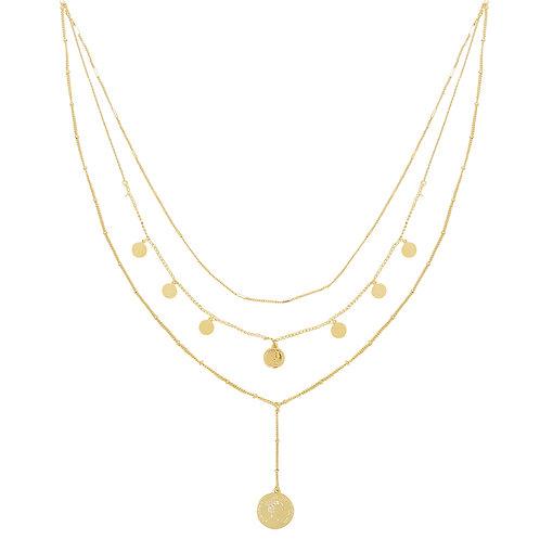 La reina - layer ketting in zilver/goud