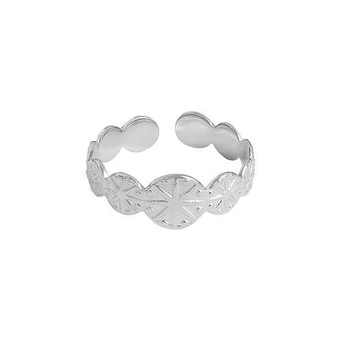 Genevieve - ring in RVS zilver/goud