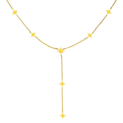Special star - ketting in RVS zilver/goud