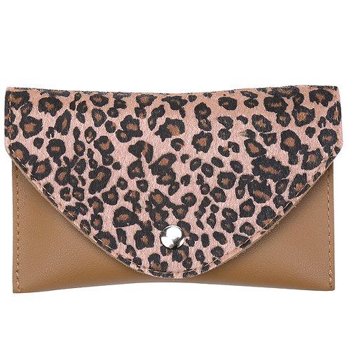 Leopard belt purse bag in groen/bruin