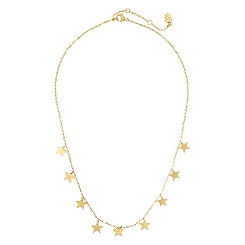 Lots of stars - RVS necklace in gold