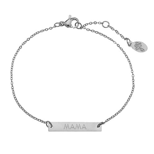MAMA - armband in RVS zilver/goud