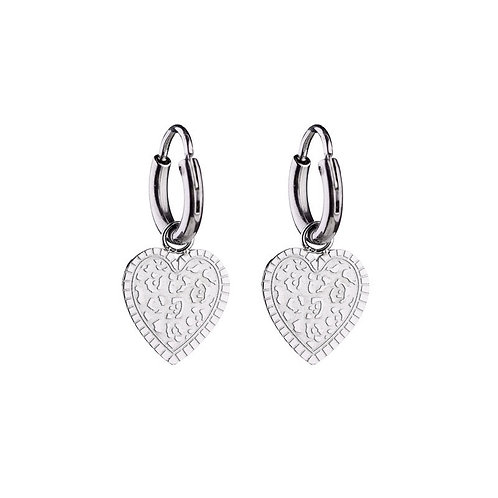Leo's heart - earrings in RVS silver/gold