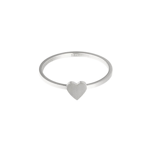 Little heart - ring in RVS zilver/goud