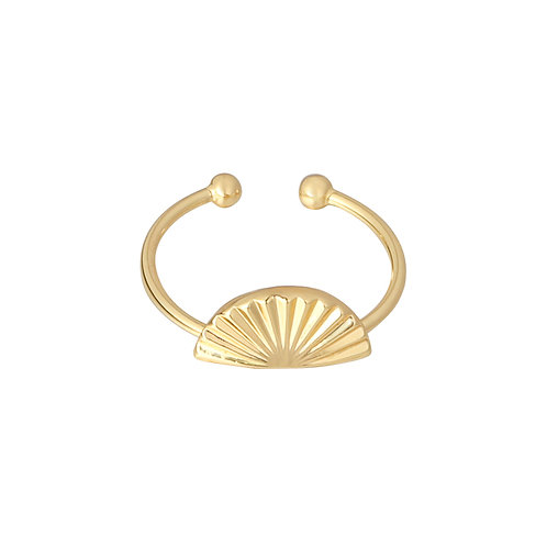 Shell screen - ring in zilver/goud