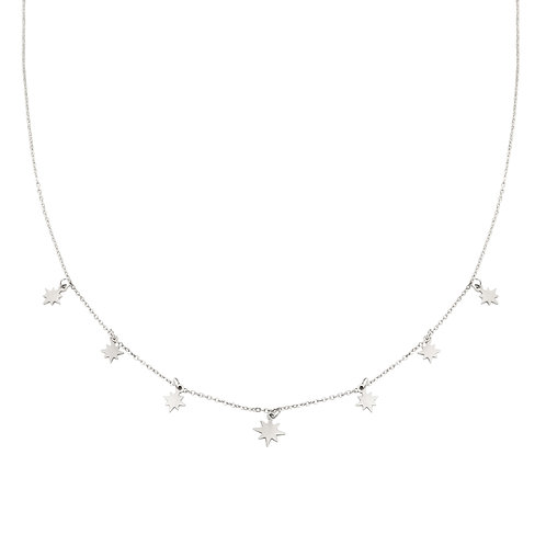 Special stars - ketting in RVS zilver/goud
