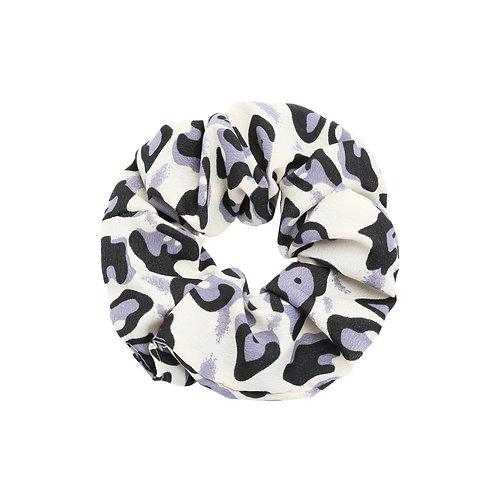 Happy leopard scrunchie (grijs)