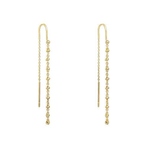 Rosary - oorbellen in zilver/goud