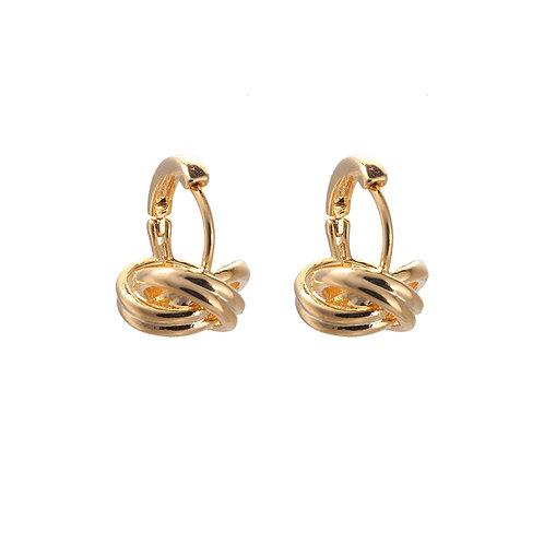 Messy but classy - earrings in gold/silver