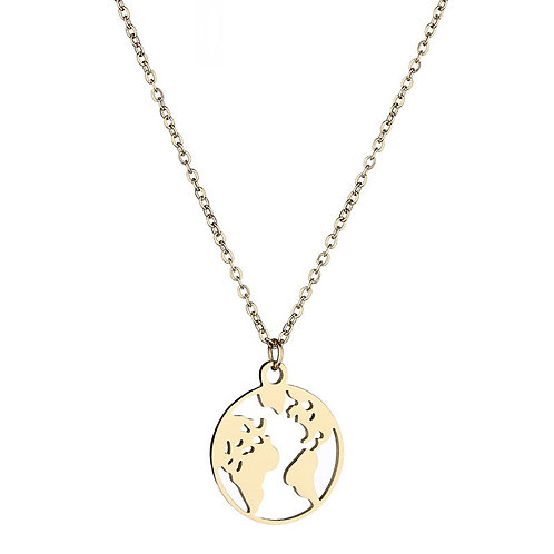 The traveler - necklace in RVS gold