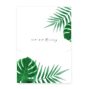 HIP HIP HOORAY - (sieraden) kaartje met leafs