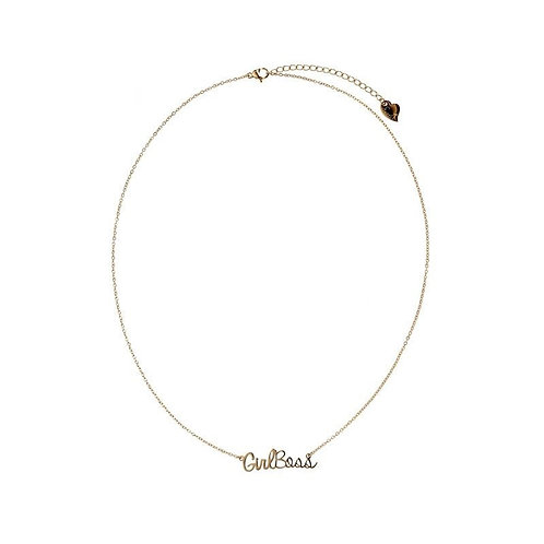 Girlboss - necklace in RVS gold/silver