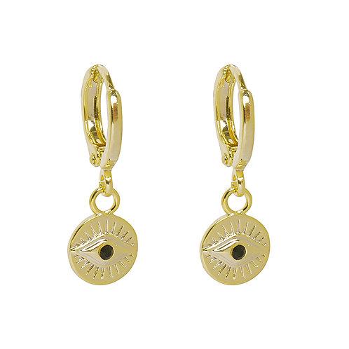 Eye see you - earrings in gold/silver