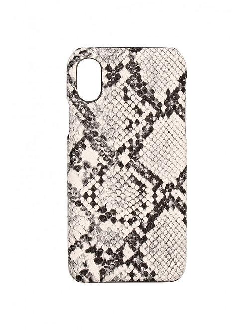Iphone telefoonhoesje in slangenprint/snakeskin (grijs)