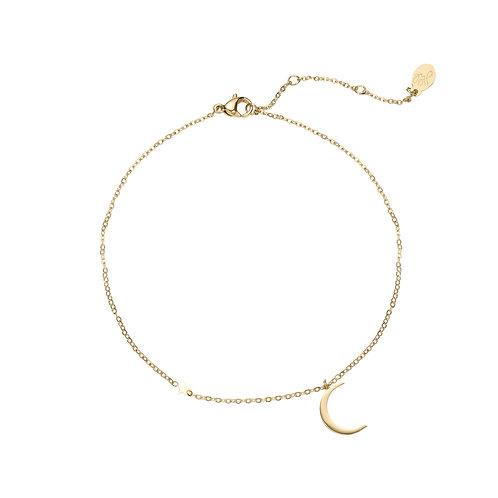 Moonlight - armband in RVS zilver/goud