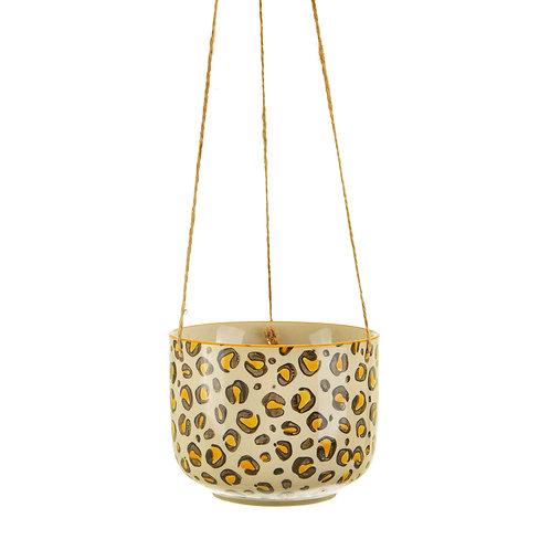 Leopard love hanging planter van Sass & Belle
