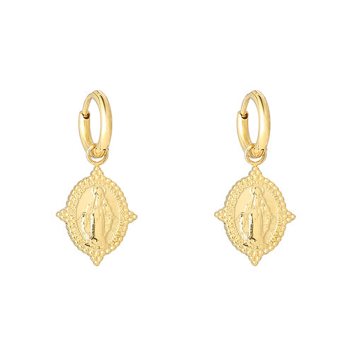 Madonna earrings in RVS silver/gold