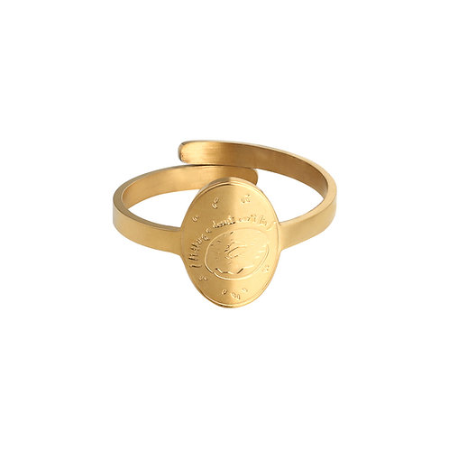 Donut - ring in RVS goud/zilver