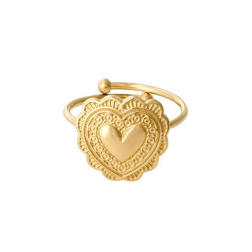 True love - ring in RVS goud/zilver