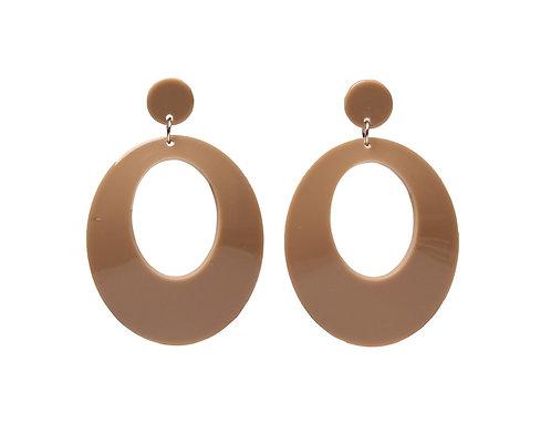 Hello natural - oorbellen in bruin
