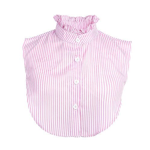 Kraagje met strepen (roze-wit)