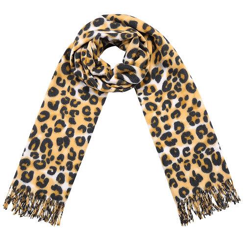 Head in the jungle - gele leopard sjaal