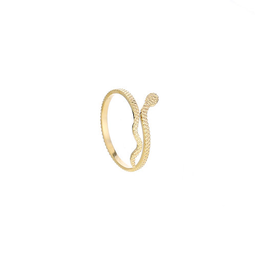 Tiny snake - ring in RVS goud/zilver