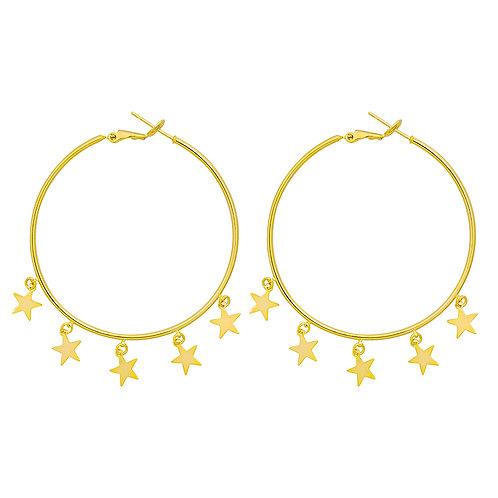 A sky full of stars - earrings in silver/gold