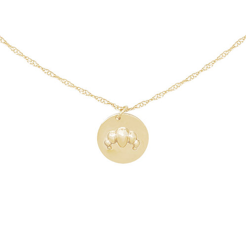 Croissant for breakfast - necklace in silver/gold