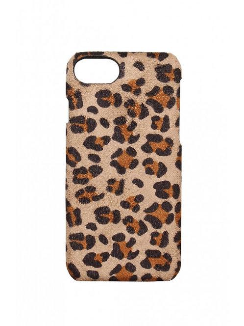 Iphone telefoonhoesje in suède panterprint/leopard