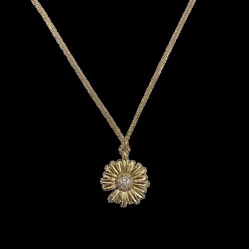 À la big daisy zirconia necklace