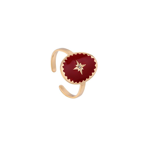 Wicked things - ring in RVS gold/red