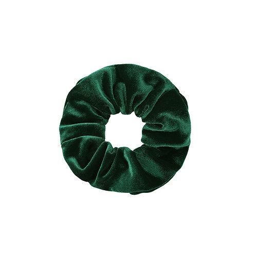 Velvet scrunchie in groen