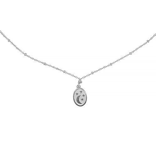 give you stars and the moon - necklace in RVS silver