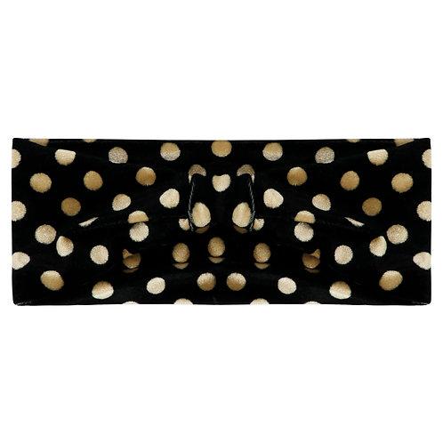 Velvet dots headband