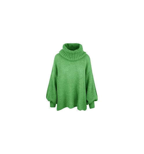 BONJOUR - trui met col (groen)