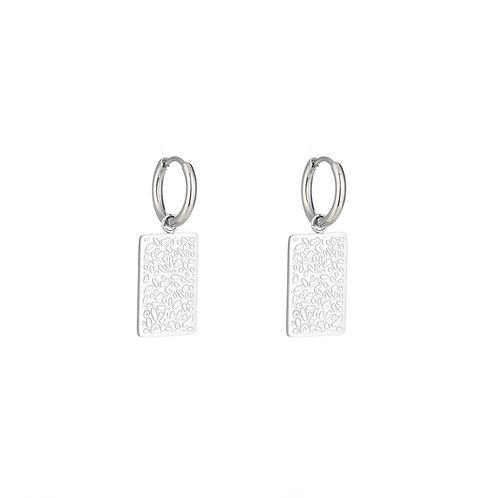 Call it art - oorbellen in RVS zilver/goud