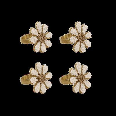 Beaded napkin ring daisy (set van 2)