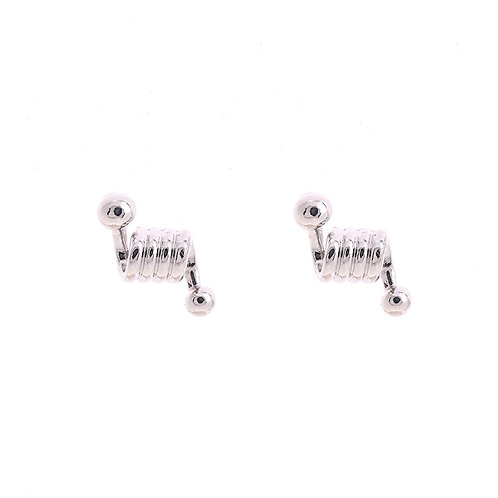Twister - oorknopjes in zilver/goud