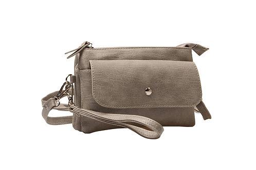 Handtasje in grijs/beige