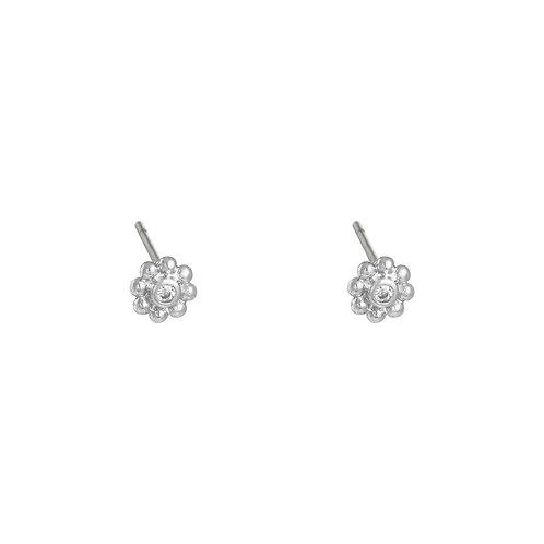 Flowery - oorbellen in zilver/goud